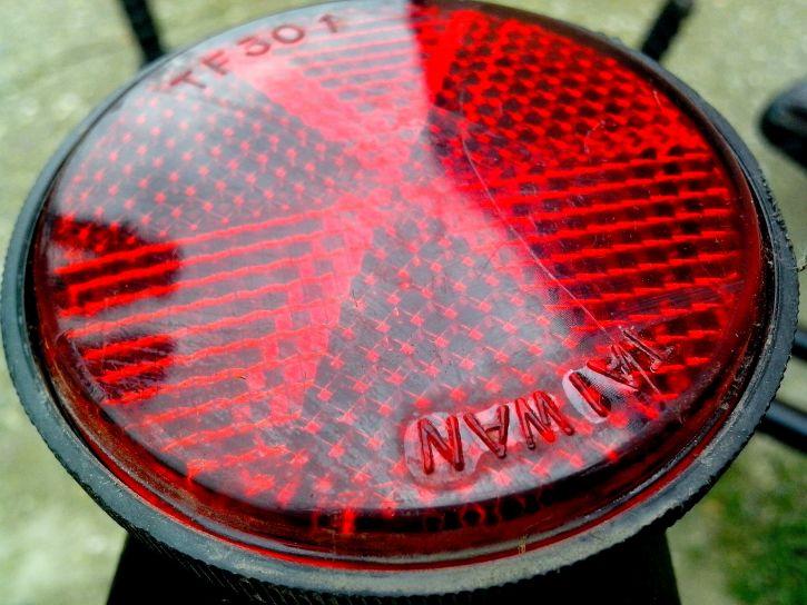 rouge, réflecteur, bicyclette