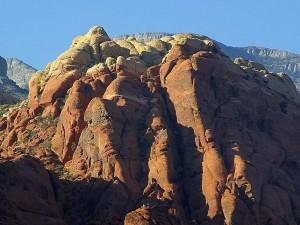 rødt, steiner, sunrise, klatring