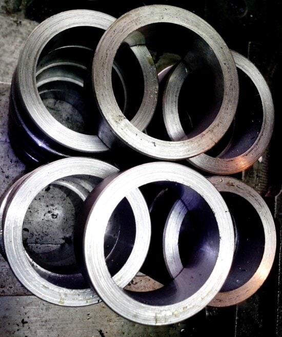 round, metal, parts
