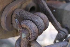 rusty, railcar, linkage