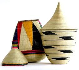 échantillon, paniers, artisanat, africaine, conception