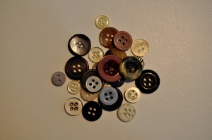 sewing, buttons