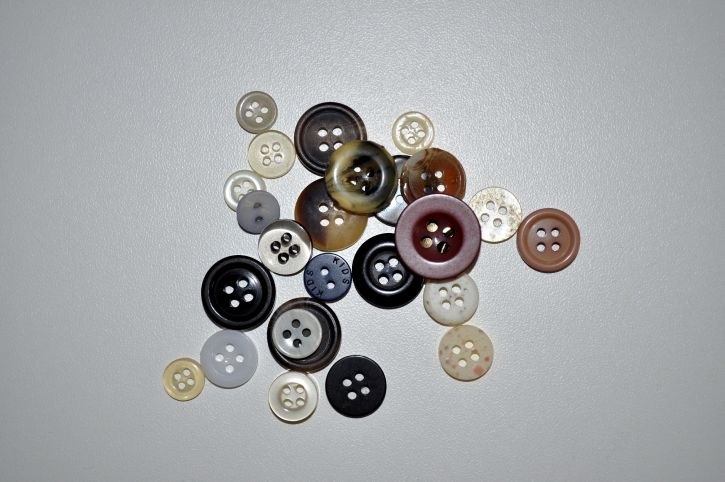 sewing, buttons, white, background