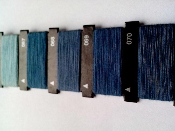 vlákno, manuál, modrá, šicí stroj