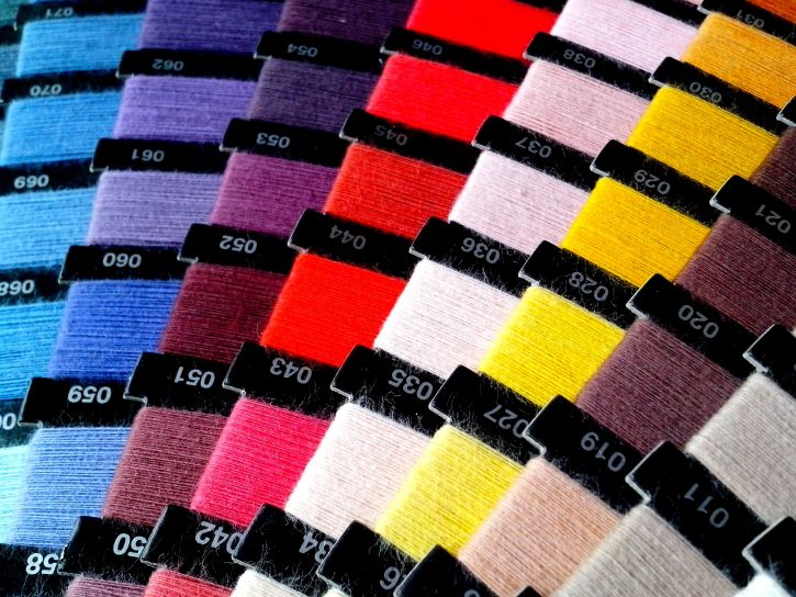 colored, sewing thread