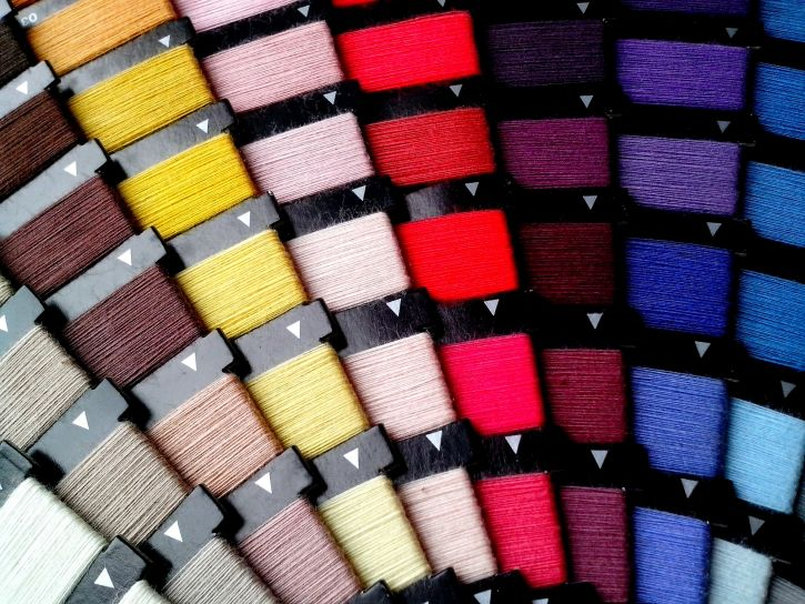 colored, sewing thread, catalog