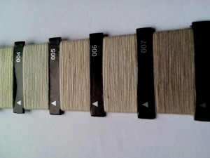 gris, hilo, máquina de coser