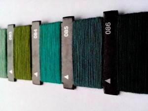 verde, hilo, manual, máquina de coser