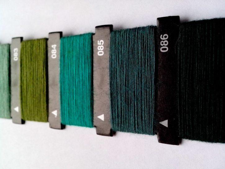 verde, filo, manuale, macchina, cucire