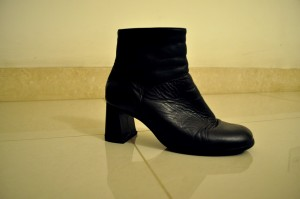 noir, femmes, bottes, talons