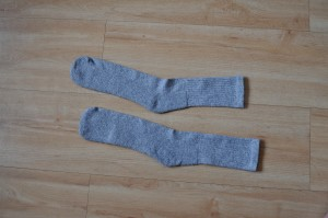 two, light, blue, men, socks