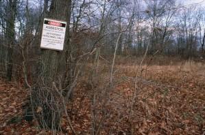 asbestos, dump, hazard, sign
