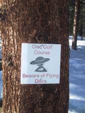 disk, golf, sign