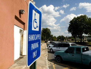 handicapés, parking, signe