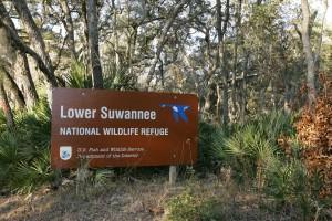 lower, suwannee, wilderness, refuge, board, sign