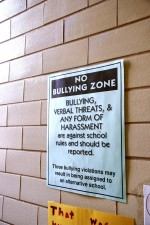 bullying, zone, sign
