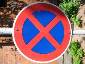 parking, sign