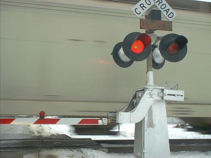 railroad, crossing, arm, byron, Illinois