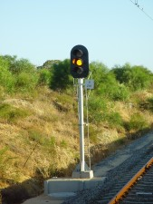 railway, signal, currambine, amber