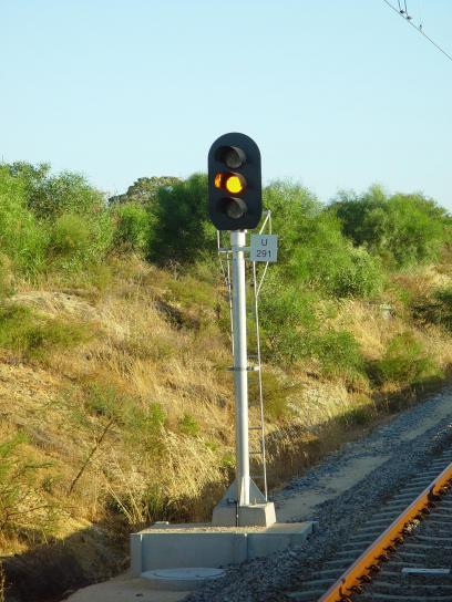 kereta api, sinyal, Nantes, amber