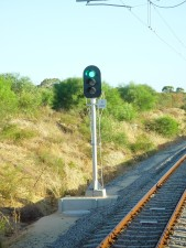 railway, signal, currambine, green