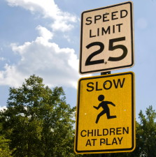 route, signes, indiquer, vitesse, limite