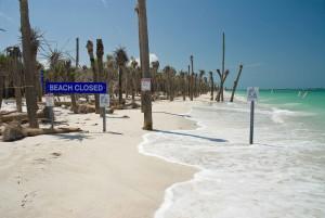 Praia fechada, sinal