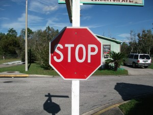 stop, sign