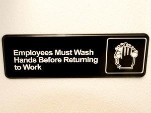 wash, hands, sign