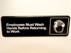 wash, hands, sign