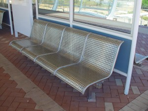stainless, steel, bench