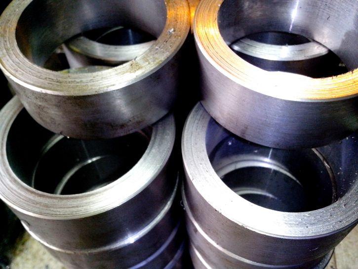 stalowe, części, okrągłe