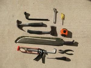 outils, tournevis, scie, mécanicien, clé, pinces