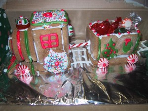 gingerbread, train, kids, toy