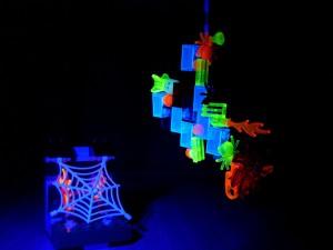 lego, cube, ultraviolet, éclairage