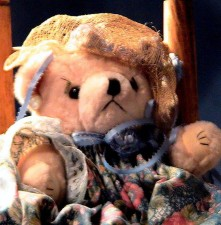antik, teddy, Björn, Leksak