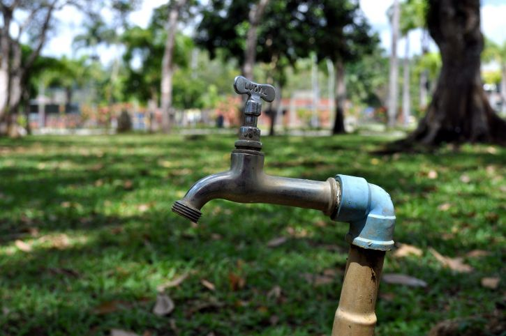 vodu, fontane, park
