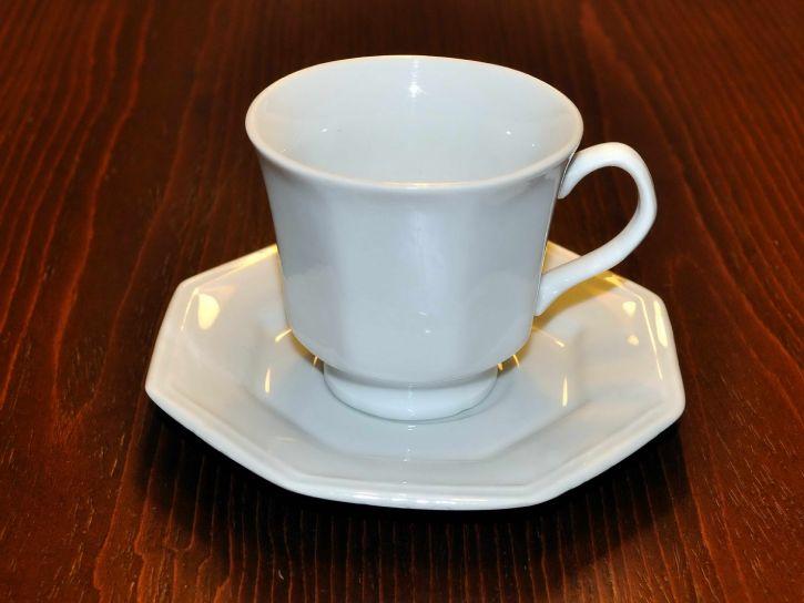 bijelo, kava, šalice, keramičke