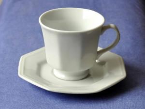 hvid, kaffe, cup, blå, baggrund
