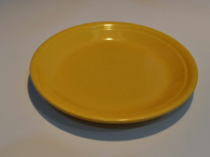 kuning, keramik, piring
