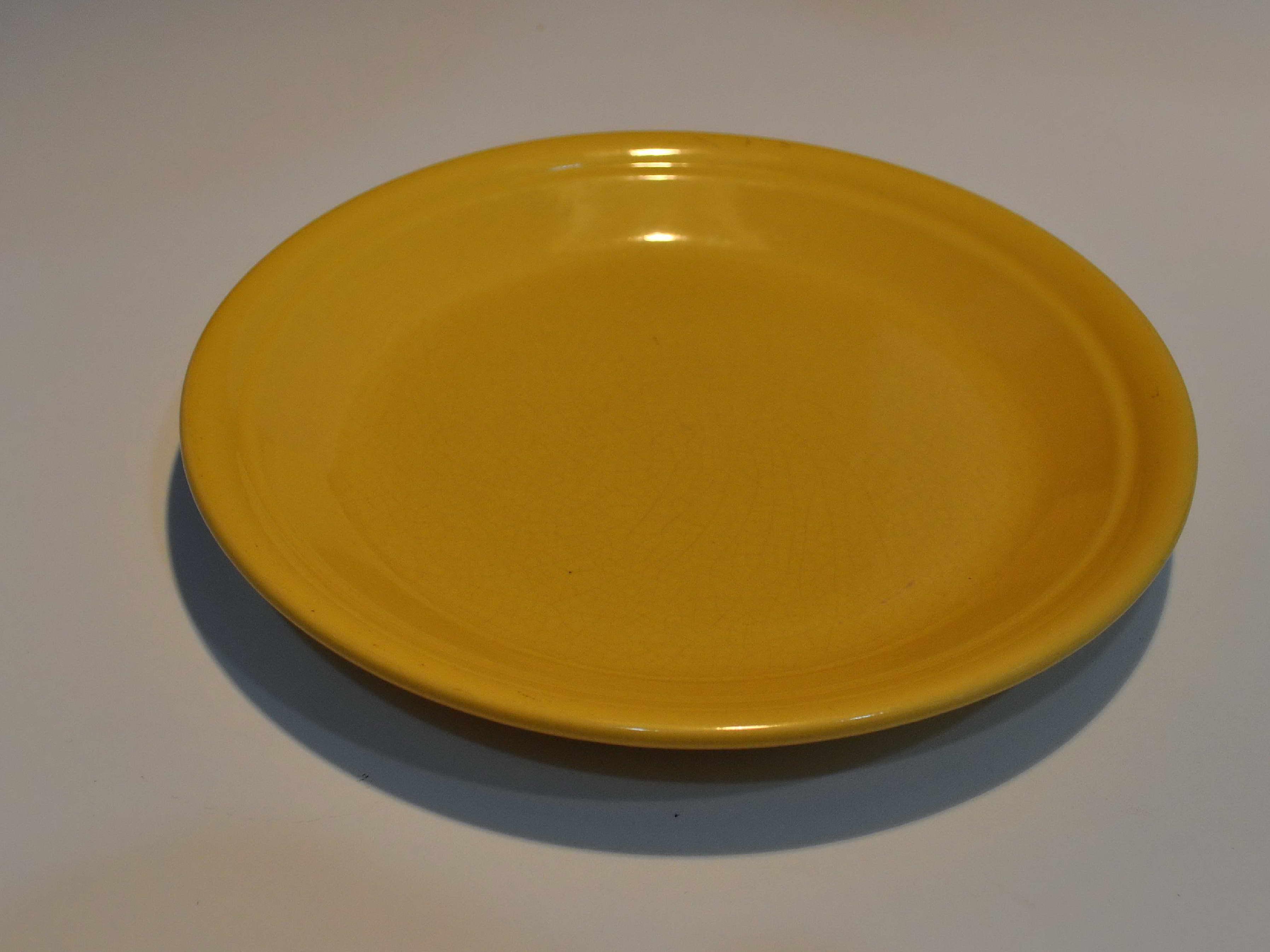 Free photograph; yellow, ceramic, plate