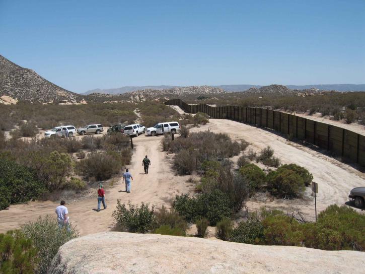 aérienne, les gens, la marche, San Diego, Secteur de près