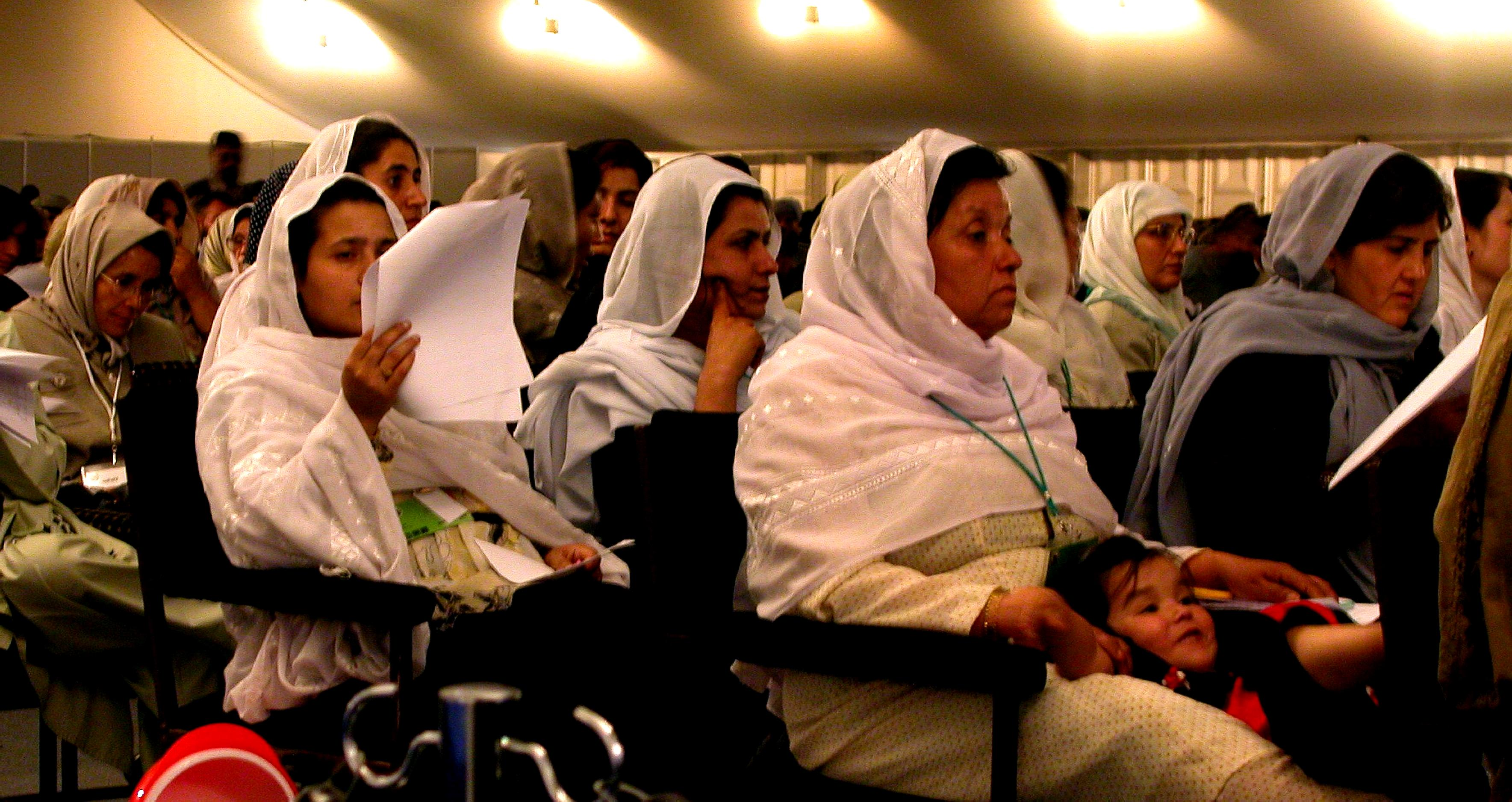 Free Picture Afghanistan Men Women Delegates Crowd