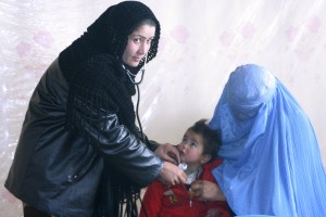 Afghanistan, nurse, examination, young child