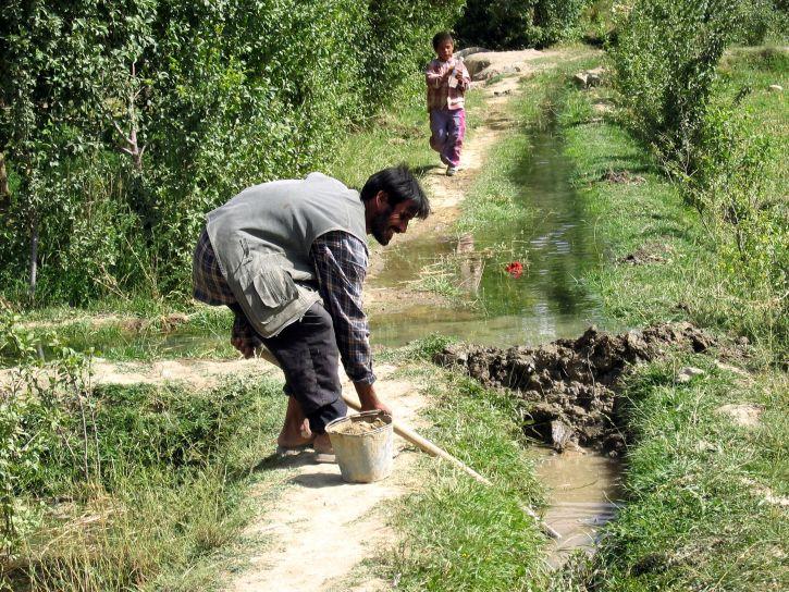 援助, 小, 农夫, 庄稼, 生产, 灌溉, 系统