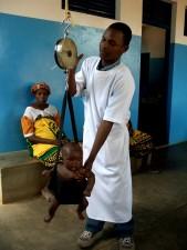 baby, weighed, Mossuril, health, center