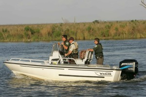 bayou, sauvage, refuge, officers, working