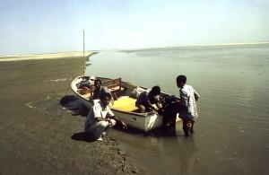 bengalí, los hombres, los bancos, cuerpo, agua, país, Bangladesh