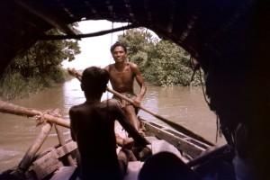 bateau, les passagers, la fabrication, ainsi, une, Bhola, île, voie navigable