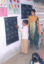 boy, receives, basic, education, India